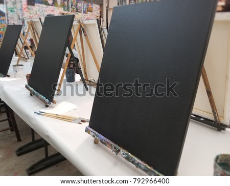 Paint Night Easels Stock photo ©