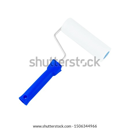 paint roller isolated against white background Stockfoto ©