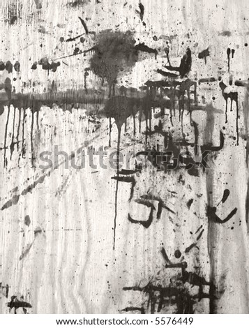 paint spattered plywood