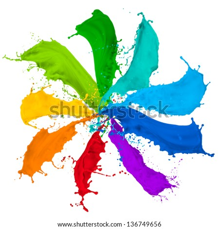 paint splash collection in rainbow colors