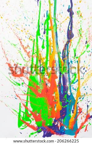 paint splash on white background