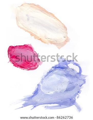 Paint spots on white paper