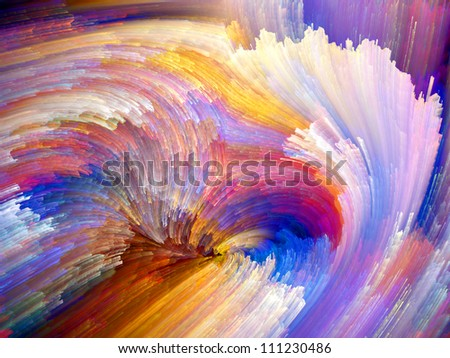 Paint Swirls Series. Creative arrangement of streaks of digital color as a concept metaphor on subject of art, design and creativity