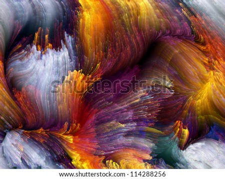 Paint Swirls Series. Design composed of streaks of digital color as a metaphor on the subject of art, design and creativity