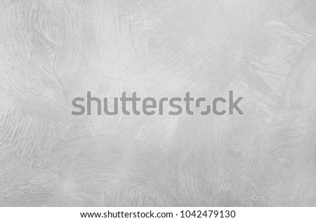 Paint (50%), texture (50%). Bump map. The texture of a smooth rough wall. Relief plane. Balanced gray color. Light reflex. White Design Background. Artistic plaster. Rastered image. #1042479130