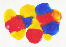 Paint Textures Colorful blobs primary colors