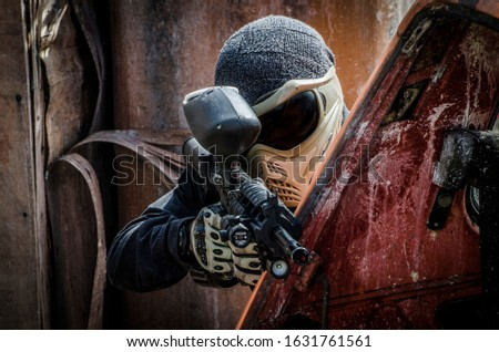 Paintball, action and adrenaline sport Stock photo ©