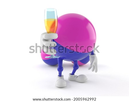 Paintball character toasting isolated on white background. 3d illustration Stock photo ©