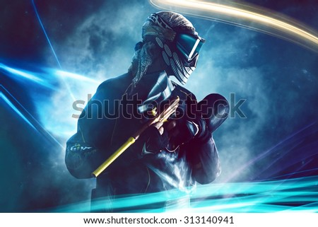 Paintball Player Stock photo ©