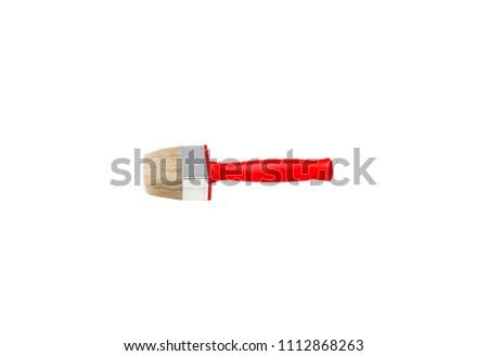 Paintbrush on white background isolated