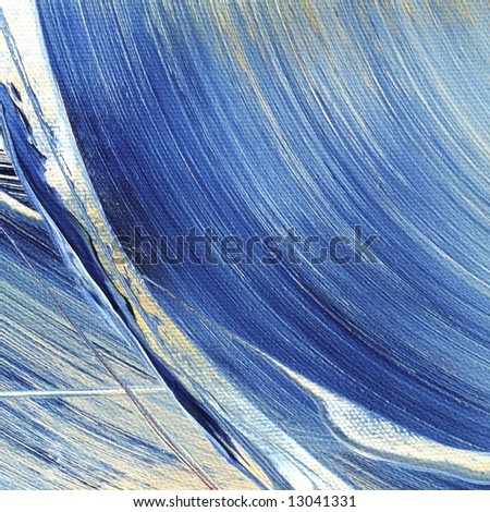 Painted abstract weavy background with different shades of blue and white droplets, Art is created and painted by photographer No ps filter used.