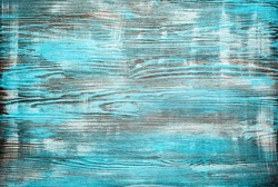 Painted Blue wood background. Grunge texture.