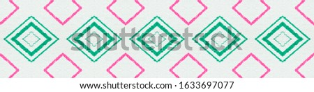 Painted Color Mexican Pattern. Seamless Watercolour Triangle. Green Aztec Ornament. Mexican Pattern. Abstract Ikat Print. Rhombus Shapes. Rhombus Texture. Ethnic Ornament. Mexican Pattern.