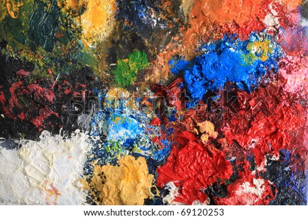 Painted colorful grunge background.