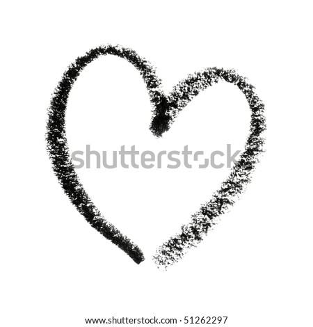 Painted Detailed Heart Symbol Outline.