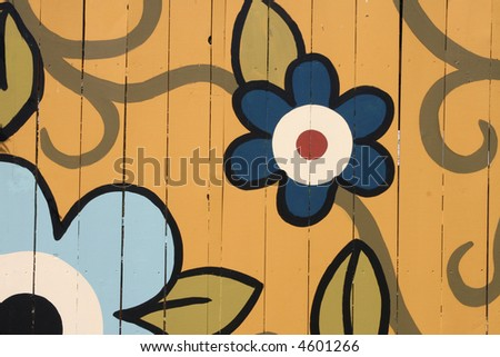 Painted Fence - stock photo