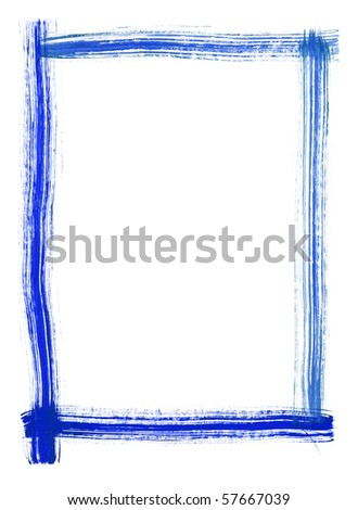 Painted frame by me with isolated space