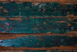 Painted green old wooden background