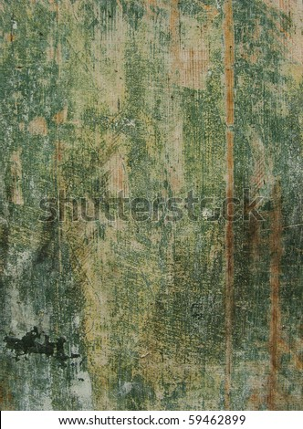 painted green timber wood grunge background