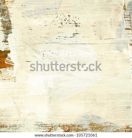Painted grunge paper texture with space for text