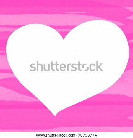 Painted Heart  with space for text.