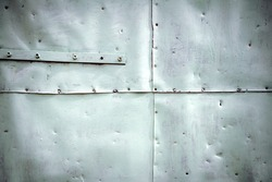 Painted in white grunge metal tin texture