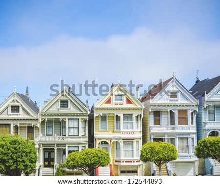 Painted ladies in San Francisco #152544893
