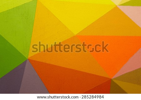 Painted multicolored background with geometric lines. Horizontal