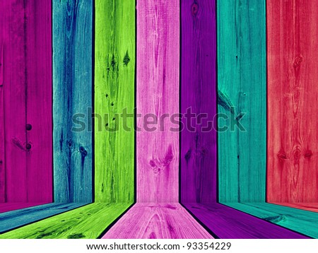 Painted Multicolored Wooden Room