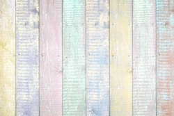 Painted pastel wood background texture