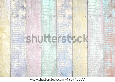 Painted pastel wood background texture #490745077