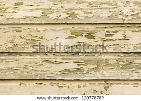 Painted peeling wooden panels texture