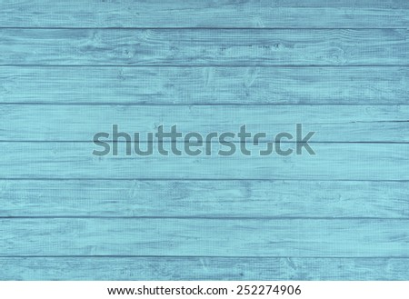 Painted Plain Teal  Blue and Gray Rustic Wood Board Background that can be either horizontal or vertical. Blank Room or Space area  for copy, text,  your words, above looking down view. Tinted photo.