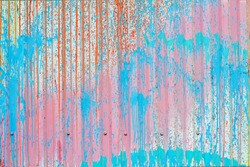 Painted profiled sheet coating with multicolored splashes as background or texture