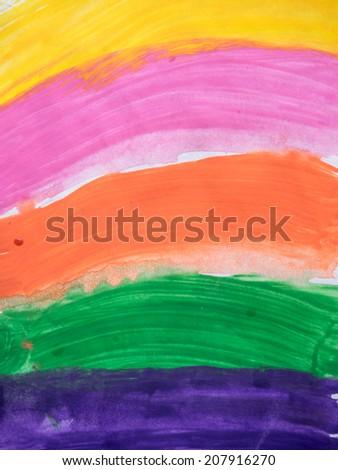 Painted rainbow background