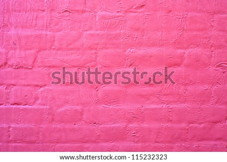 Painted red brick wall as a background image