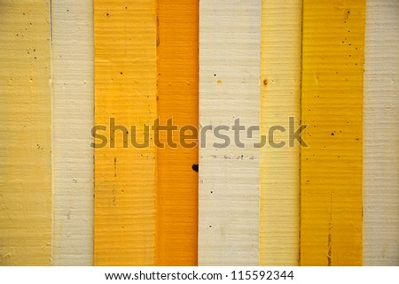 Painted Yellow Wood Background