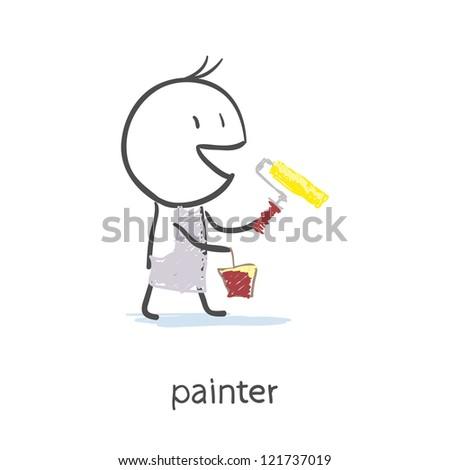 Painter - stock photo