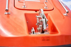 Painter Release unit Release automatic Hook Totally Enclosed Lifeboat close up