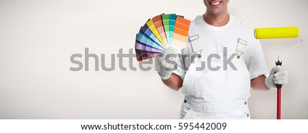 Painter with painting roller