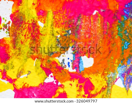 painting abstract arts background texture water color brush on paper