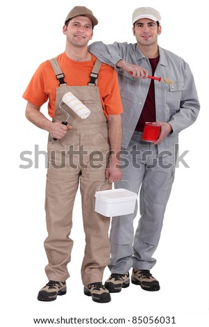 Painting and decorating duo - stock photo