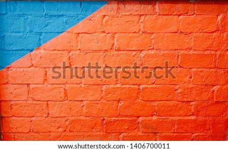 painting art wall orange and blue