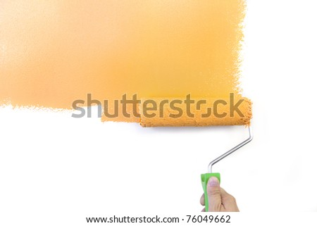 Painting - Home Improvement / Orange / isolated on white background
