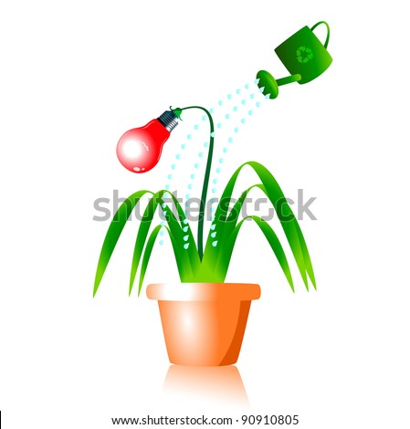 Clipart energy conservation images for Save energy painting