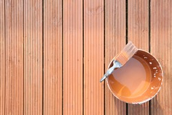 painting, staining or varnishing the outside deck or decking to repair it