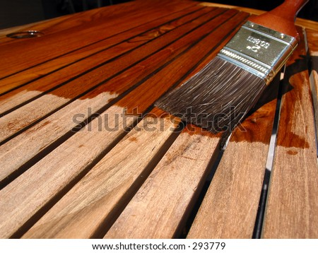 Painting Teak Furniture Stock Photo 293779 Shutterstock