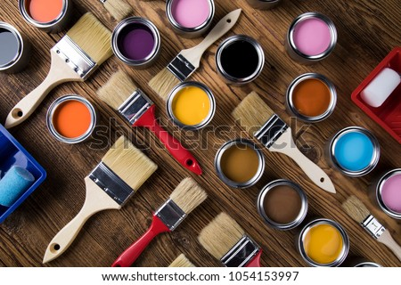 Painting tools and accessories for home renovation #1054153997