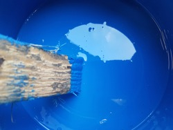 painting with blue color