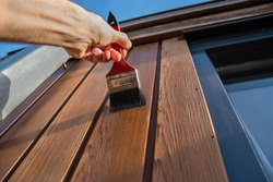 Painting woodwork outside
